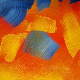 Element Water – Abstract Painting of Water and Sun