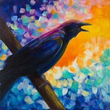 Mr. McGinnis Crow Painting