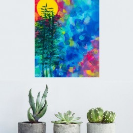 High Sierra – Small Colorful Abstract Painting