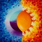 Balancing Sun and Moon – Square Abstract Painting