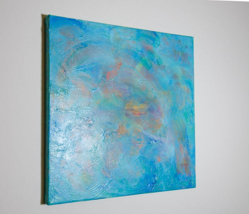 swirls of dreamy color abstract painting by deb breton