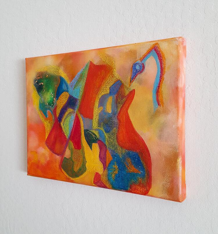 cubism wall art painting by deb breton