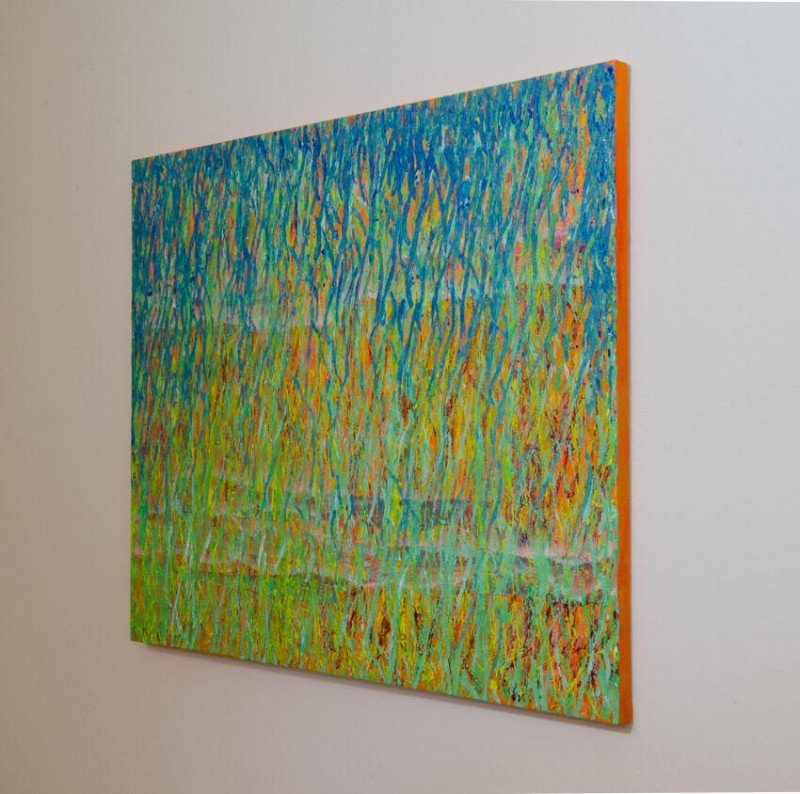 Spring Equinox - hanging painting - side view