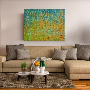 Large abstract painting of SPRING EQUINOX by Deb Breton