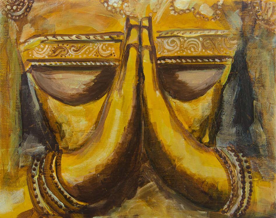 spiritual painting prayer hands