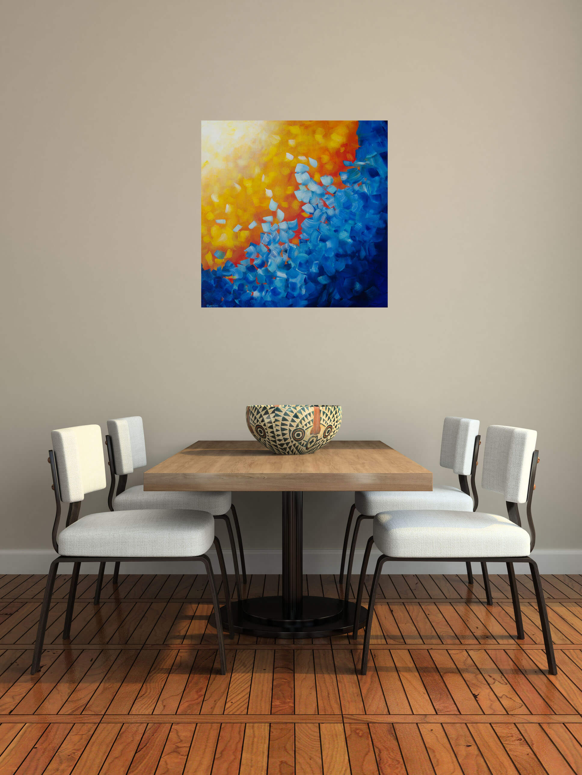Element Water Square Abstract Painting Sun Water Artist