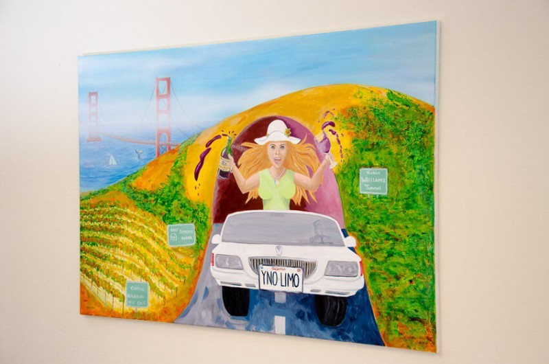 painting of escape to wine country