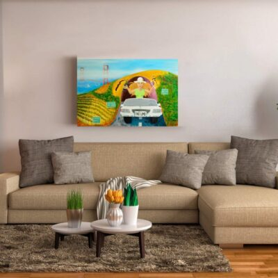 Escape to Wine Country – San Francisco Wine Tasting Painting