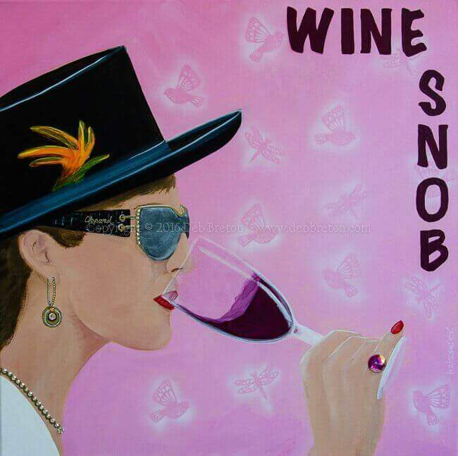 wine snob original pop-art painting
