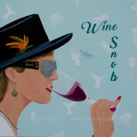 Wine Snob – Jeweled Painting
