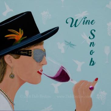 Wine Snob – Jeweled Painting