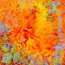 wild abstract dreamy colors painting by deb breton
