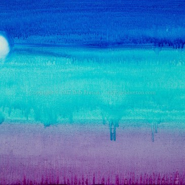 When the Night Comes – moon painting