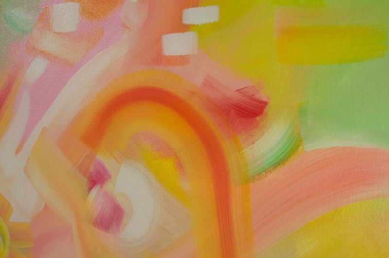 Nothing's Gonna Change My World - CLOSE UP of abstract painting