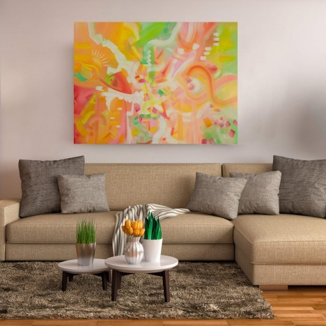 Nothing's Gonna Change My World – Colorful Abstract in Spring Colors