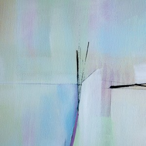 """Into the Ether 24"""" x 48""""  mixed media on gallery wrap canvas by Deb Breton $525"""