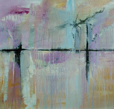 abstract painting titled Road Trip by Deb Breton