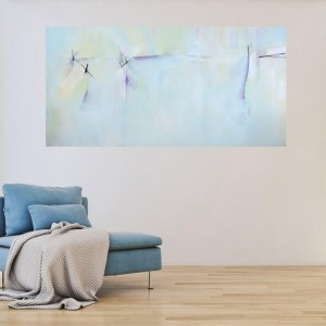 Into the Ether - Large abstract painting by California artist Deb Breton $525