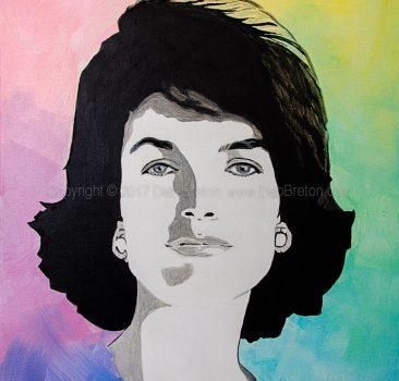 Jackie Kennedy painting by California artist Deb Breton