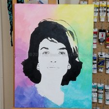 Jackie Kennedy – Colorful Portrait Painting