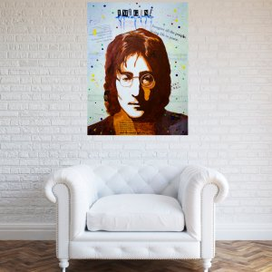 Abstract pop art painting of John Lennon - Imagine