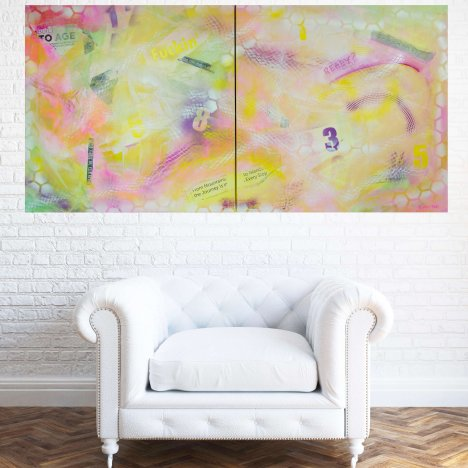 Life is Short – Abstract Diptych
