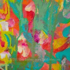 Nothing Lasts Forever Abstract Floral Painting