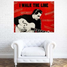 The Man in Black – Johnny Cash Portrait Painting