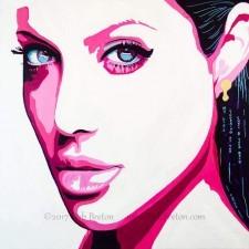 Original painting of Angelina Jolie