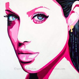 Original painting of Angelina Jolie