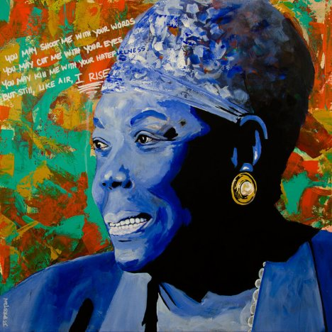 Maya Angelou Art – Still I Rise – Urban Art Painting