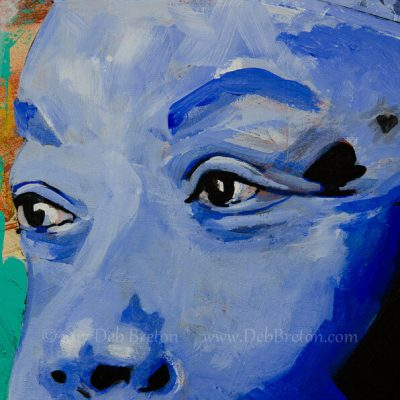 Close up detail of Maya Angelou's eyes of wisdom