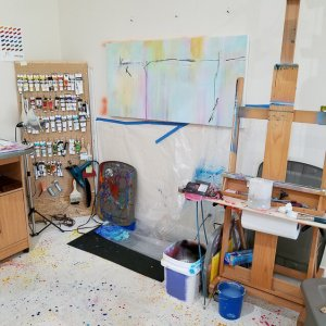 Work in progress - Into The Ether 24 x 48 x 1.5