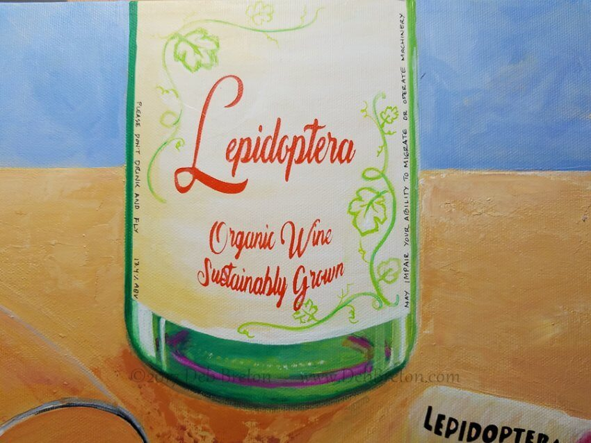 Happy Hour - Lepidoptera Wine Bottle