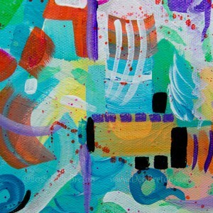 Lots of layers, splashes and harmonious colors