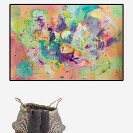 Far Far Away abstract painting