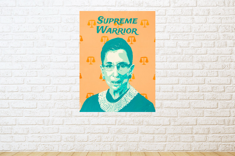 Ruth Bader Ginsburg portrait painting