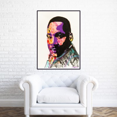 Martin Luther King Jr., in home interior