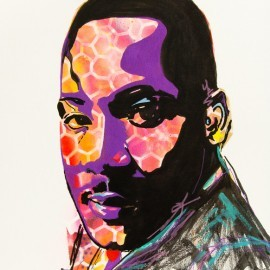 Remembering Martin Luther King Jr. Abstract Portrait Painting