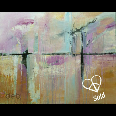 Sold – Road Trip abstract painting