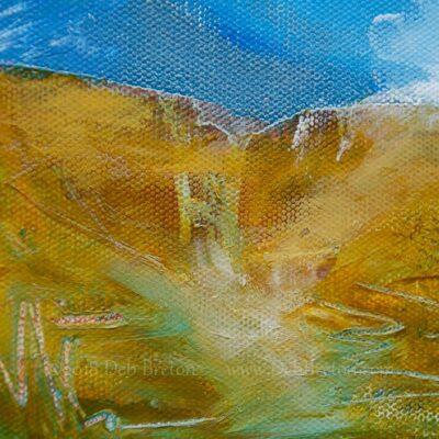 Close up of DELUGE artwork