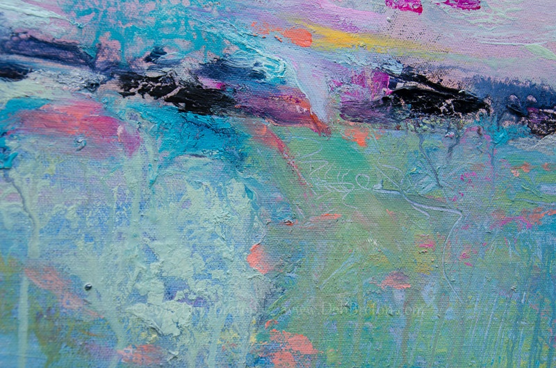 Morning Meditation abstract landscape - seascape painting by Deb Breton