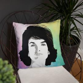 Jackie Kennedy Portrait Pillow Art