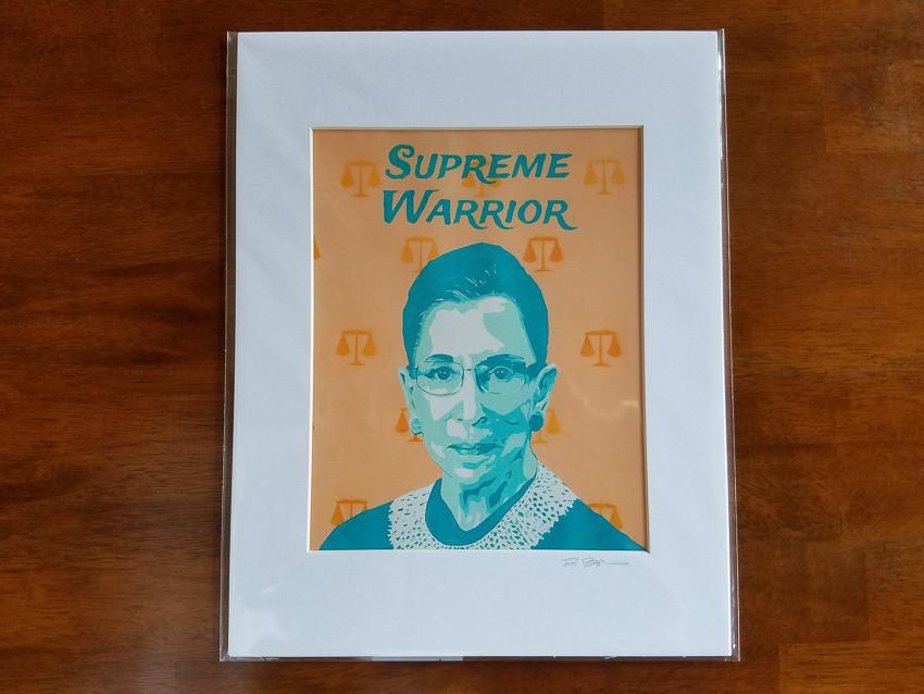 Supreme Warrior RBG Art Print