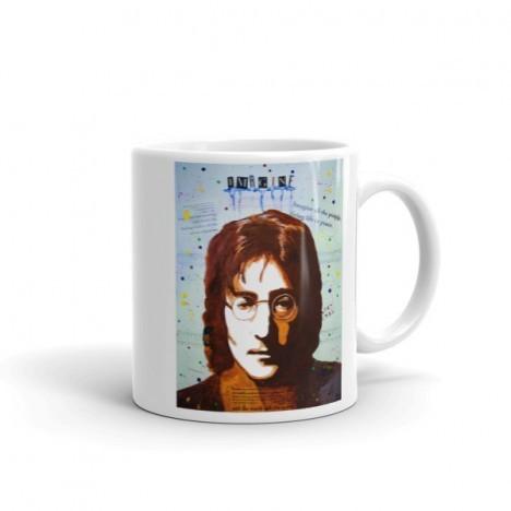John Lennon Art Portrait Mug – 11oz