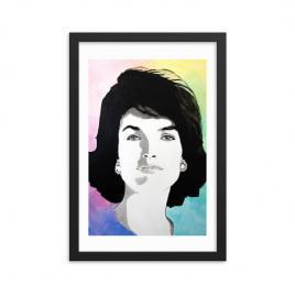 Jackie Kennedy Modern Portrait Framed poster
