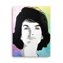 Jackie Kennedy Modern Portrait on Canvas
