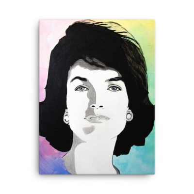 Jackie Kennedy Modern Portrait on Canvas Print – 18×24