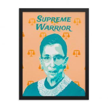 Supreme Court Warrior Ruth Bader Ginsburg Framed poster