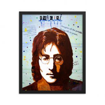 John Lennon IMAGINE Framed poster